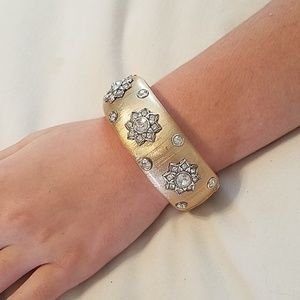 Brighton cuff and rhinestone bracelet